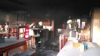 Brand in der Pizzeria