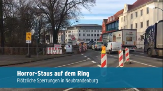 Staus am Neubrandenburger Ring bald zu Ende (Video)