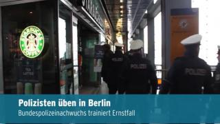 Bundespolizeinachwuchs trainiert in Berlin (Video)