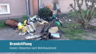 Obdachlos nach Wohnhausbrand in Gnoien (Video)