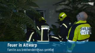 Familie aus brennendem Haus in Altwarp gerettet (Video)