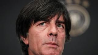 Löw bei Auslosung der Nations League in Lausanne