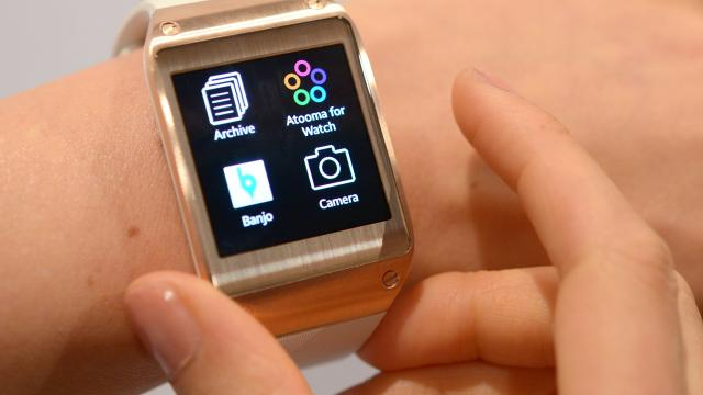 "Die Samsung ""Galaxy Gear"" Smartwatch."