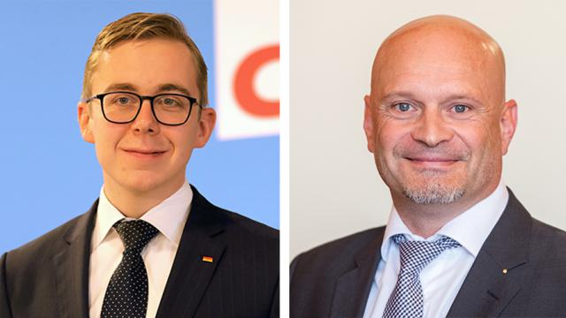 Philipp Amthor (CDU, links) und Enrico Komning (AfD).