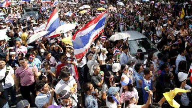 Neue Protestwelle in Bangkok