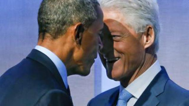 Obama witzelt über Bill Clinton als First Lady