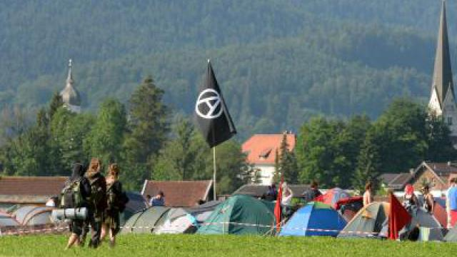 Idyllisches Protestcamp