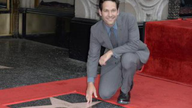 Paul Rudd mit Stern auf Hollywoods «Walk of Fame»