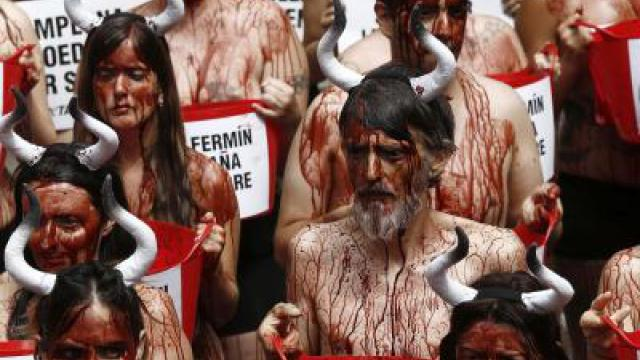 Protest in Pamplona