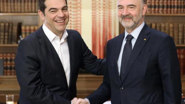 Pierre Moscovici in Athen