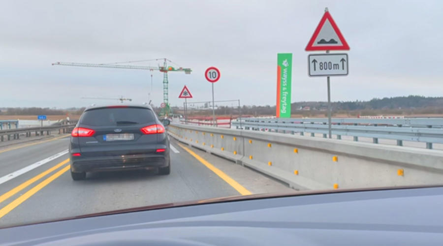 Baustelle A20 Tribsees